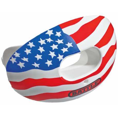 BATTLE OXYGEN LIPS GUARD PROTEGE DENTS AMERICAN FLAG CHROME