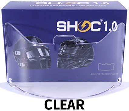 SHOC 1.0 EYESHIELD VISOR CLEAR VISIERE FOOTBALL