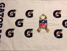 GATORADE TOWEL SALUTE TO SERVICE SERVIETTE NFL