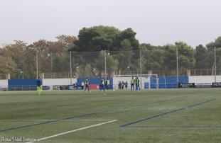 El CD Ebro entrena antes de recibir al Saguntino