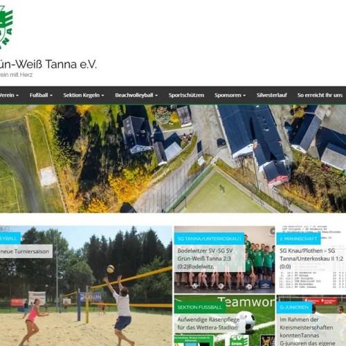Neue Webseite des Sportvereins