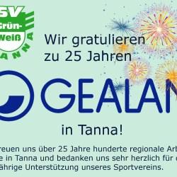 25 Jahre GEALAN in Tanna - wir gratulieren!