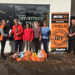 Hanging Chair Mitre 10 Oviedo Leather News Sport Whanganui The Marton Team Presenting Donations Raised For Christian Welfare Foodbank
