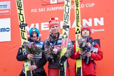 1. Maren Lundby, 2. Daniela Iraschko-Stolz, 3. Yūki Itō - WWC Oslo 2018