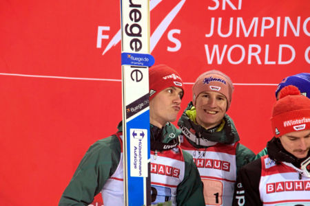 PŚ Lahti 2019 - Drużyna Niemiec na podium