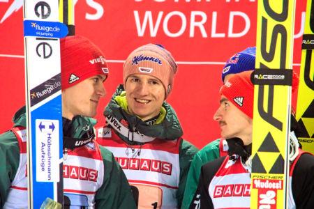 PŚ Lahti 2019 - Stephan Leyhe, Karl Geiger, Richard Freitag, Andreas Wellinger