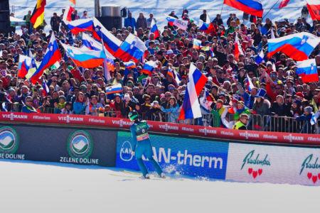 PŚ Planica 2019 - Peter Prevc i kibice