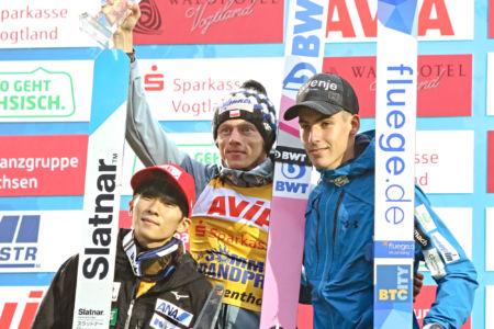 SGP Klingenthal 2019 - Dawid Kubacki, Yukiya Satō, Timi Zajc