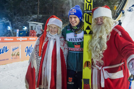 WC Ruka 2018 - Andreas Wellinger, Mr & Mrs Claus