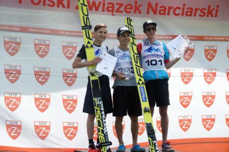FIS CUP Szczyrk 2016 - Podium: 1. Davide Bresadola, 2. Krzysztof Miętus, 3. Janni Reisenauer