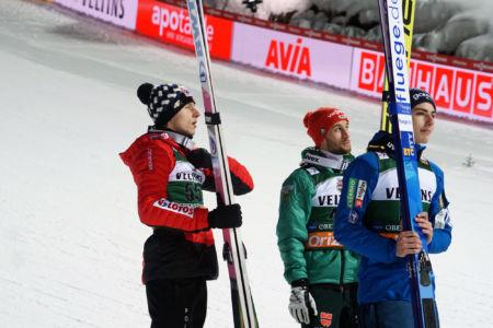 WC Oberstdorf 2019 - Timi Zajc, Markus Eisenbichler, Dawid Kubacki