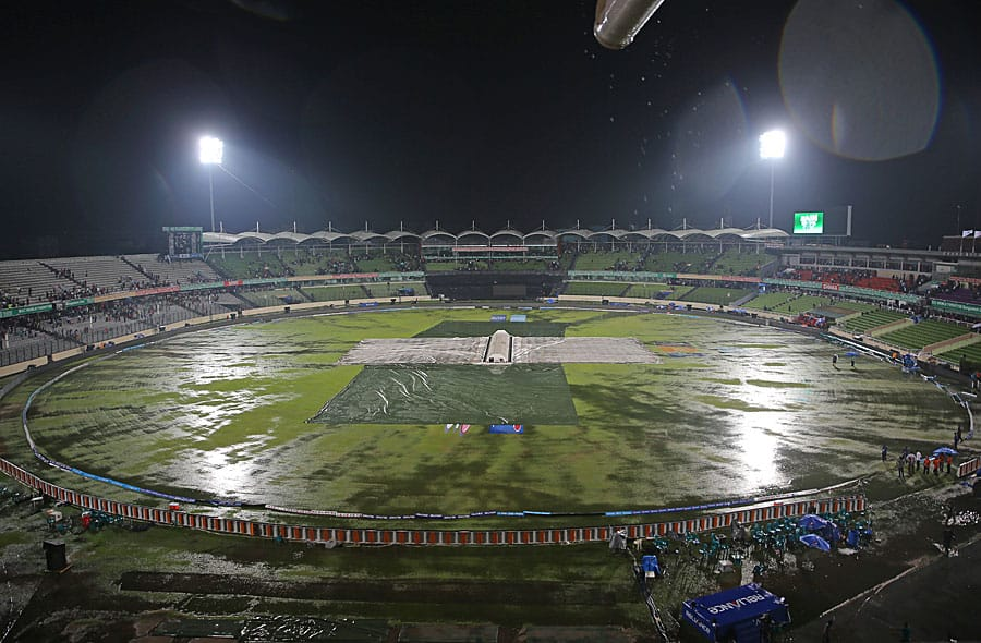 Rain spoiled the first semi final of the ICC World T20