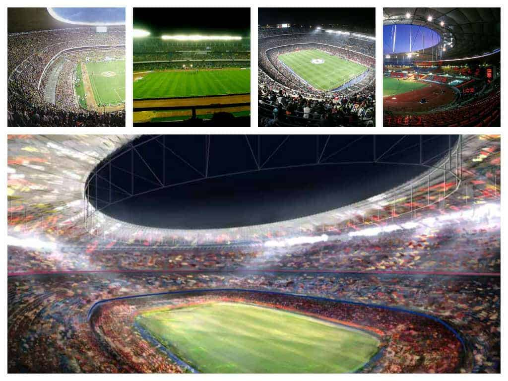 The top 5 football stadiums with large capacity