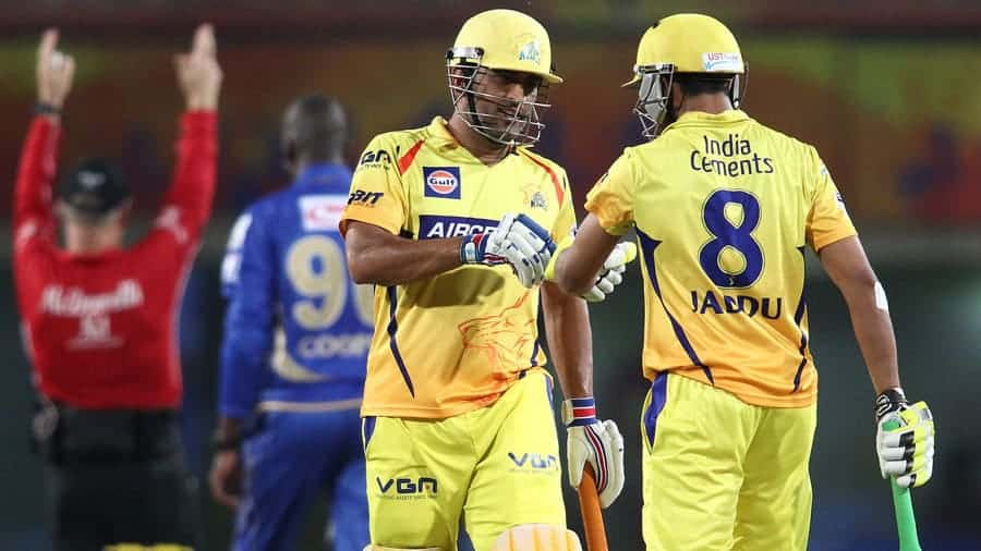 Another last over six by Dhoni helped his team to win a close game
