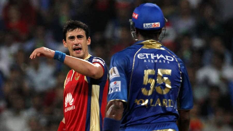 Starc and Pollard involved in an ugly spat on the field