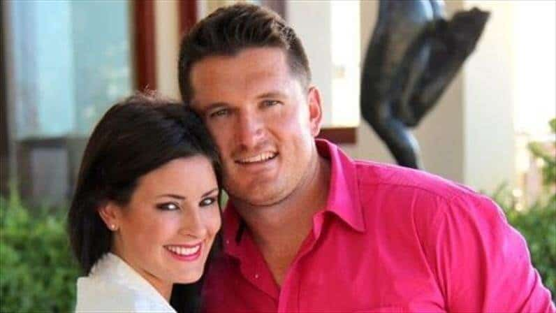 Morgan Deane with Graeme Smith