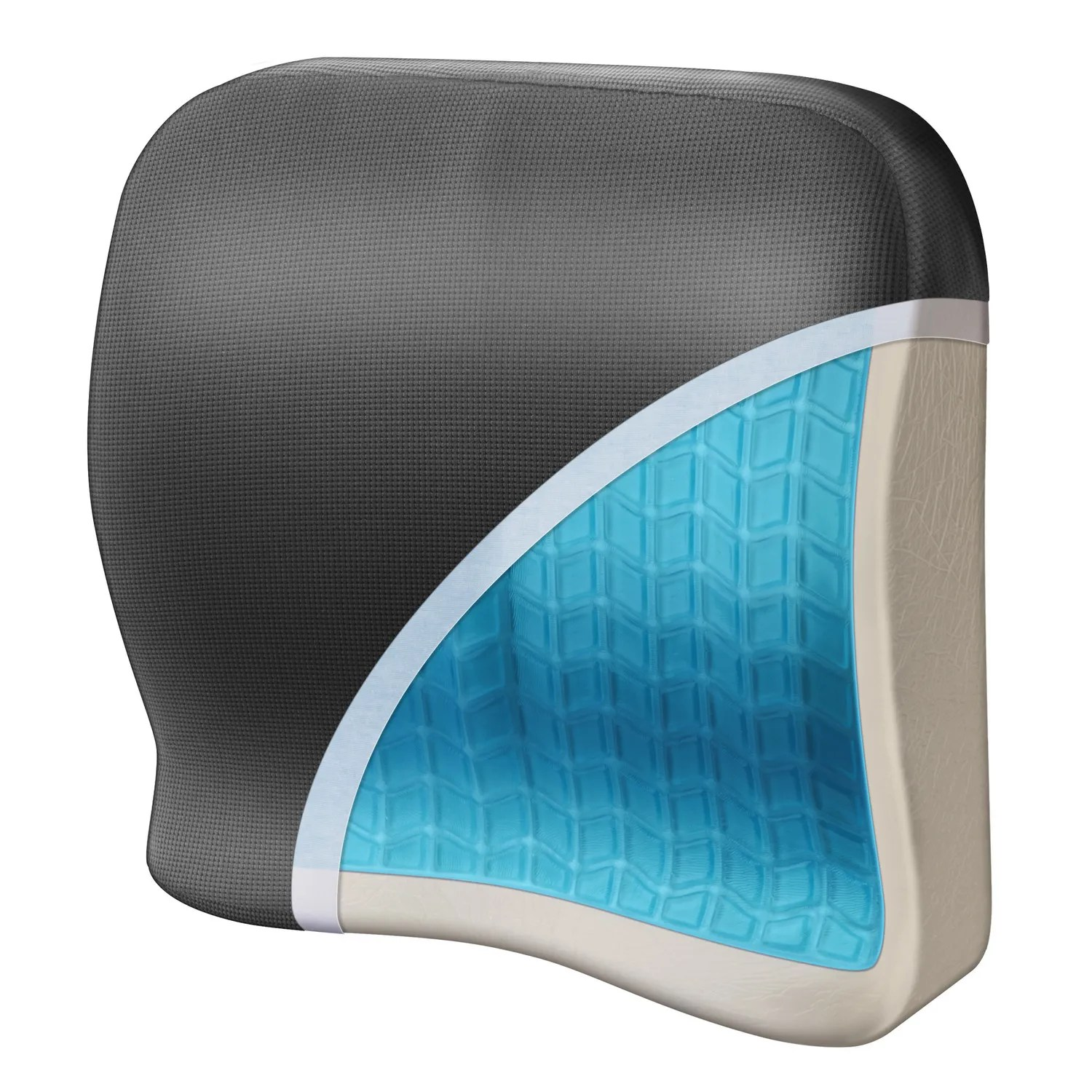 Gel Cushions For Chairs Memory Foam 43 Gel Lumbar Support From Sporty 39s Pilot Shop