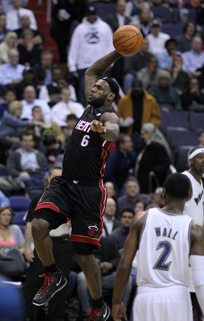 LeBron James Playing for Miami Heat