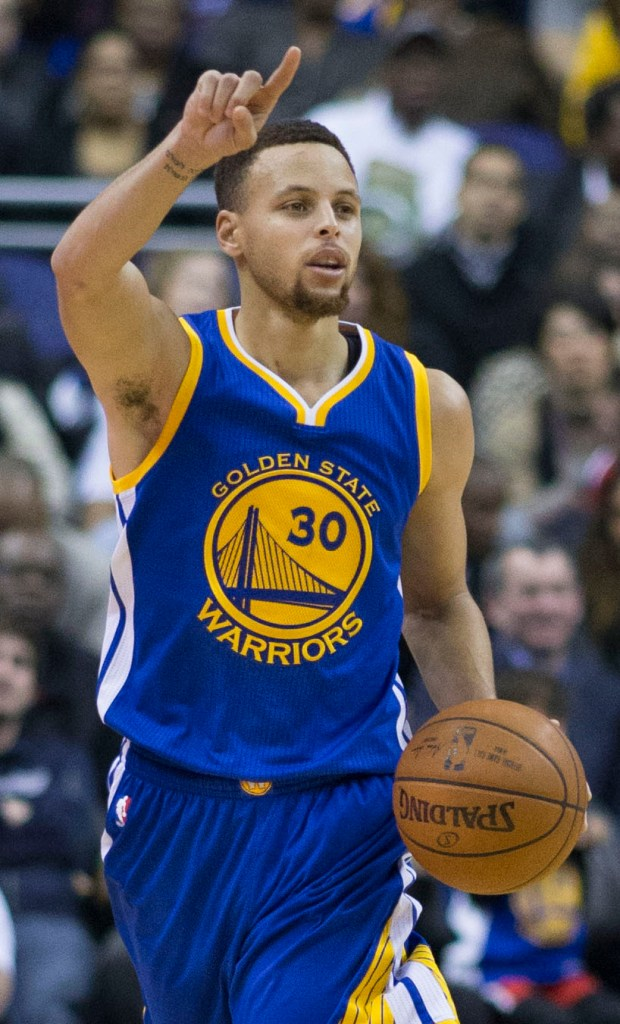 Stephen Curry With The Warriors