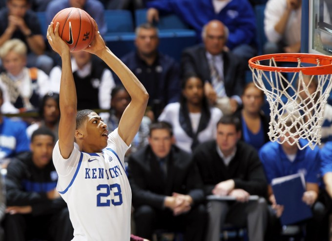Anthony Davis in action for Kentucky Wildcat