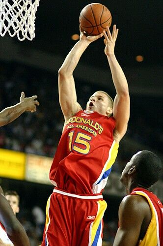 Blake Griffin playing for Oklahoma Christian School