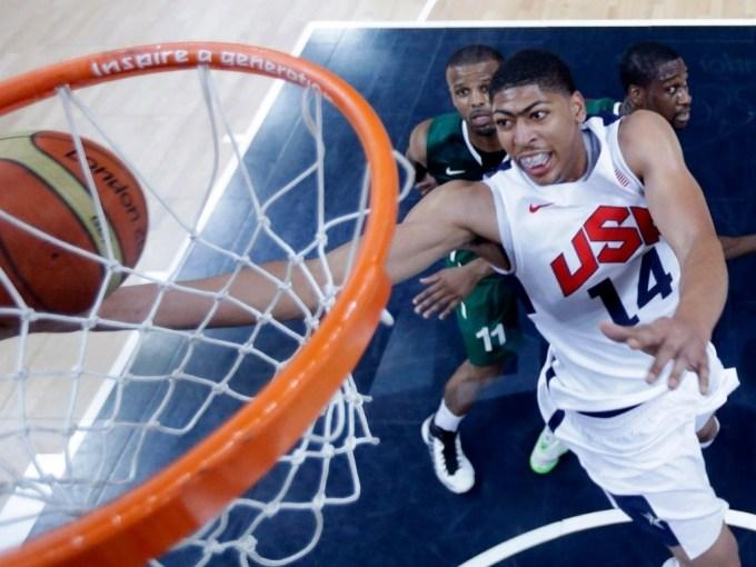 Davies slam dunks at the Olympics