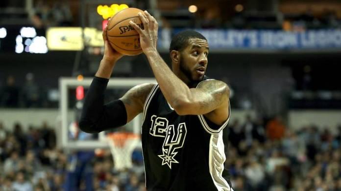 Aldridge playing for San Antonio Spurs