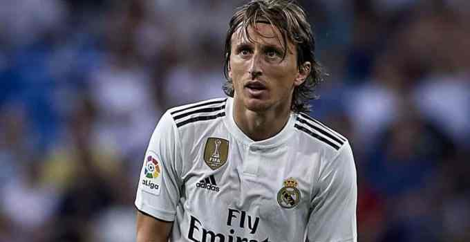 Luka Modric playing for Real Madrid