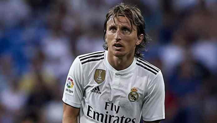 Luka Modric playing for Real Madrid