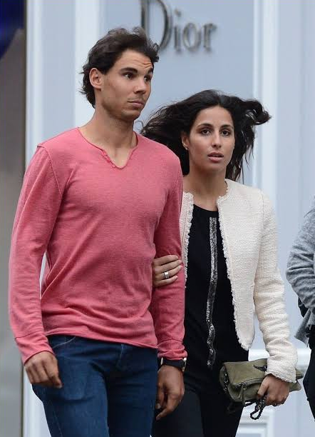 Rafael Nadal with girlfriend Maria Perello
