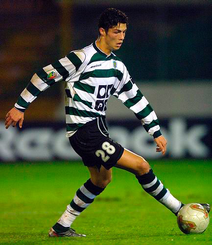 Cristiano Ronaldo playing for Sporting Lisbon