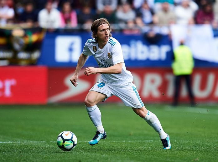 Modric playing for Real Madrid