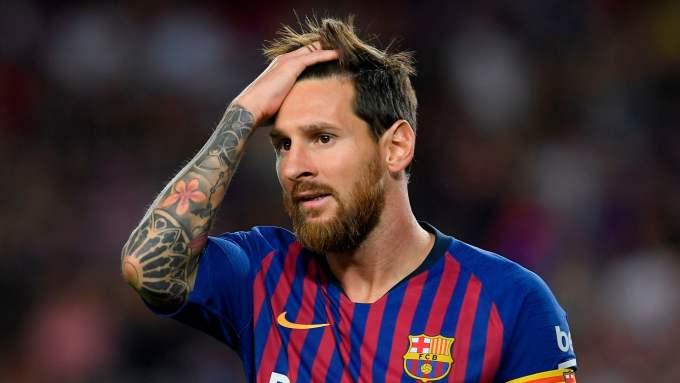 Photo of FC Barcelona's captain, Lionel Messi