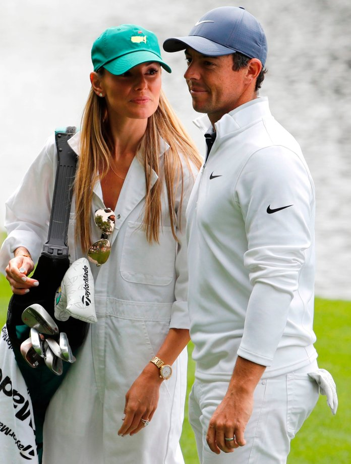 Rory McIlroy and his wife Erica Stoll