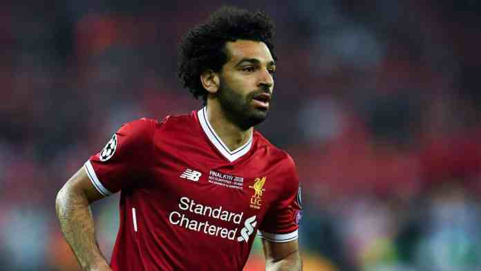 Mohamed Salah in Liverpool jersey during a football match