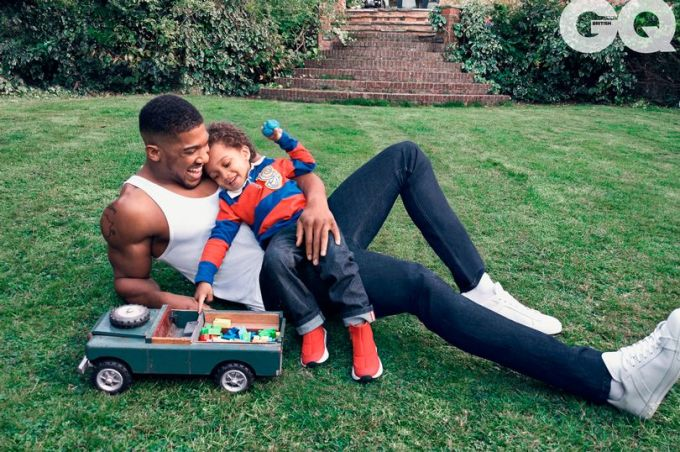 Anthony Joshua with his son, JJ
