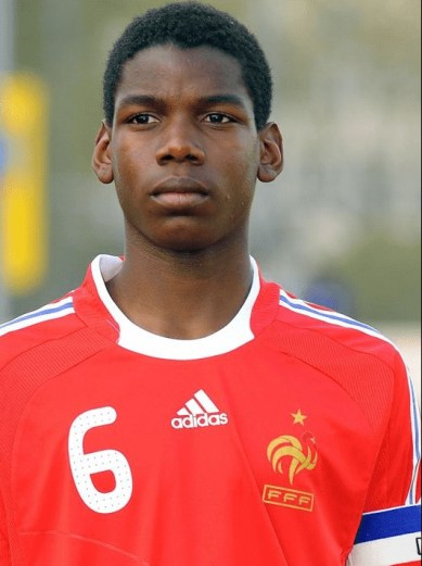 Photo of young Paul Pogba as a football player