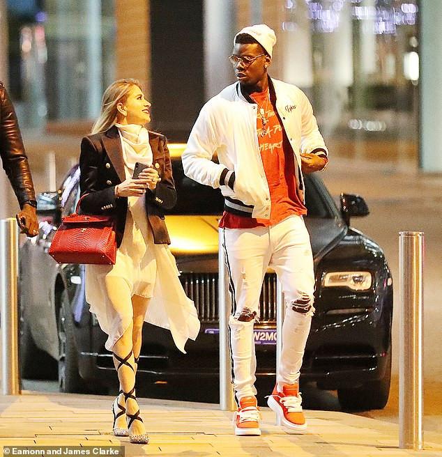 Paul Pogba with his girlfriend