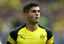 Christian Polisic playing for Dortmund