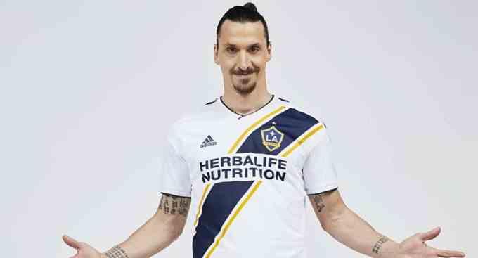 Zlatan Ibrahimovic in LA Galaxy Jersey