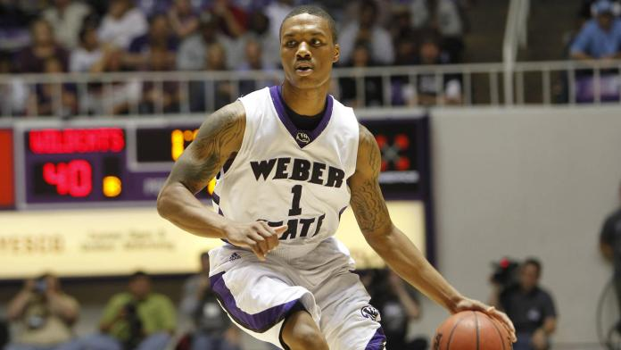 Damian Lillard in action for Weber State