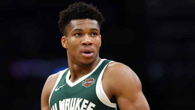Giannis Antetokounmpo in action for Milwaukee Bucks