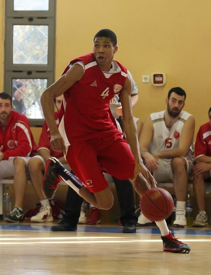 Giannis Antetokounmpo playing for Filathlitikos