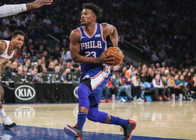 Jimmy Butler in action for Philadelphia 76ers