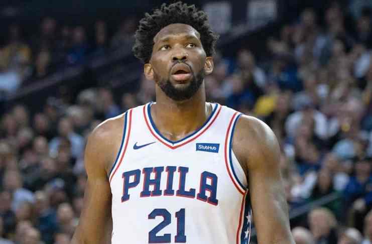 Joel Embiid in action for Philadelphia 76ers