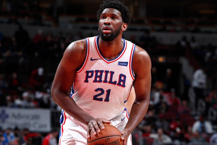Joel Embiid in action for Philadelphia 76ers