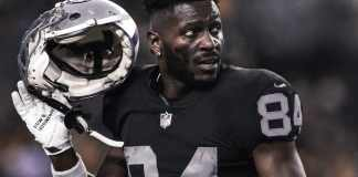 Antonio Brown of Oakland Raiders