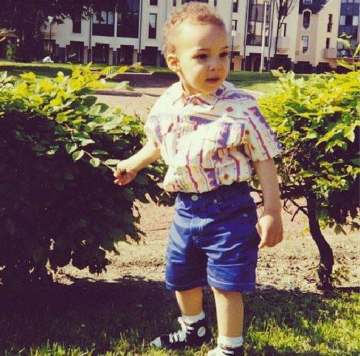 Childhood Photo of Rudy Gobert