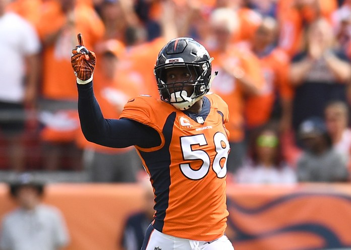 Von Miller playing for Denver Broncos