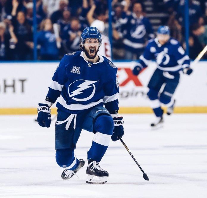 Nikita Kucherov of the Tampa Bay Lightning